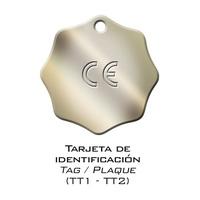 TARJETA DE IDENTIFICACION GRADO 80.