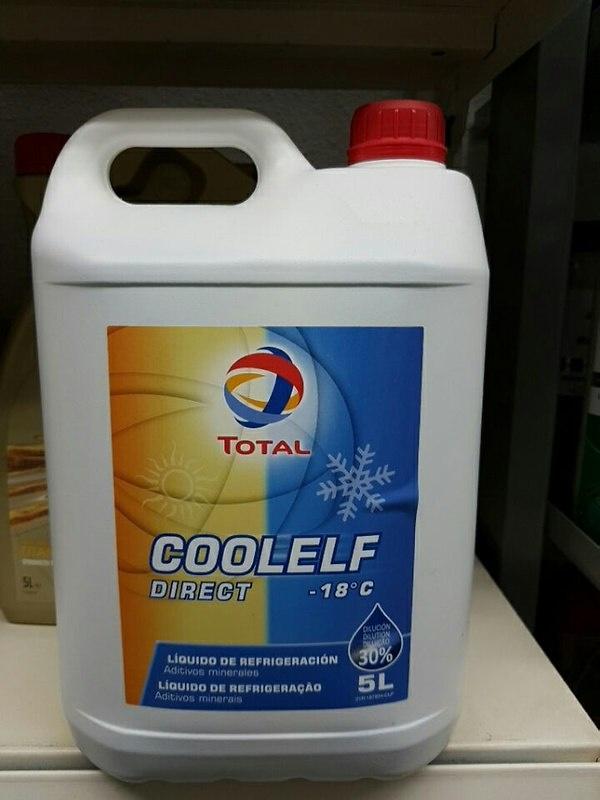 ANTICOGELANTES - REFRIGERANTES TOTAL COOLELF DIREC -18ºC (30%) Inorgánico azul