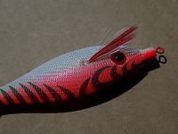 "YO-ZURI JIBIONERA SQUID JIG ""ULTRA"" CLOTH SS- S - M. (GLOW)"